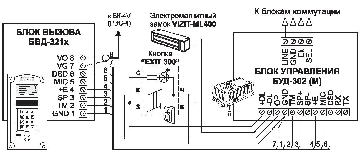 Схема подключения: БВД-321RCP