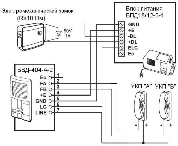Схема подключения: БПД18/12-3-